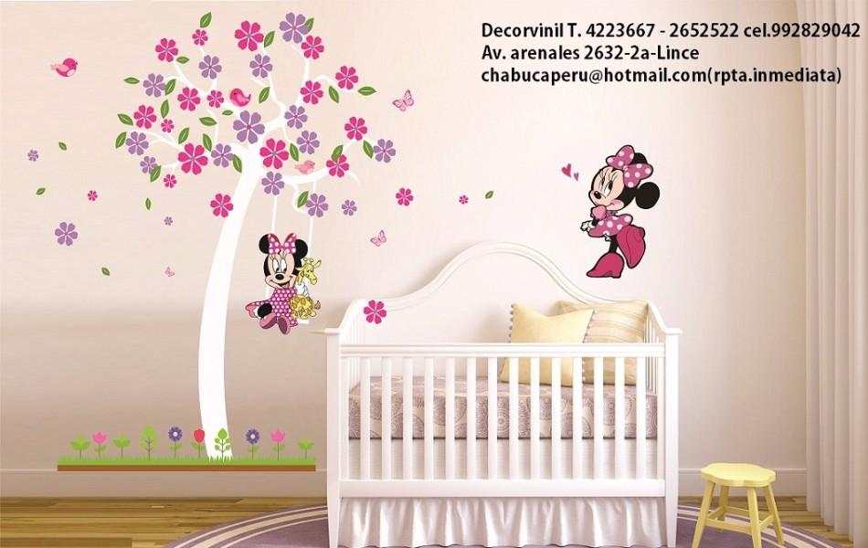 Stickers minnie mouse cenefas decoracion para bebe lince for Decoracion para bebes