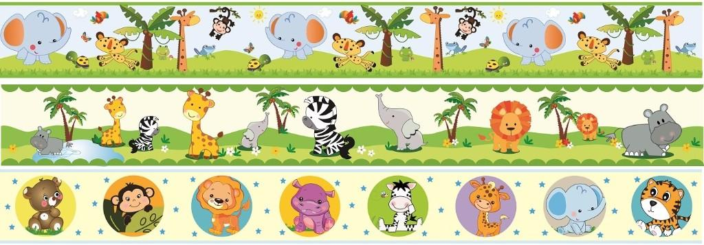 Cenefas para bebes junglita animalitos baby stickers lince for Cenefas infantiles pared