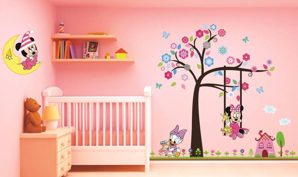 Murales minnie mouse baby stickers murales lince for Stickers para habitaciones
